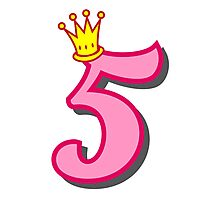 5th birthday princess party theme and gifts Photographic Print