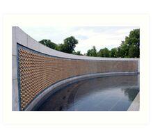 World War II Memorial, Washington DC, USA Art Print