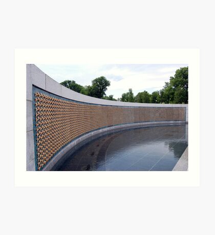 World War II Memorial, Washington DC, USA Art Print
