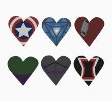 Avenger Hearts  Kids Clothes