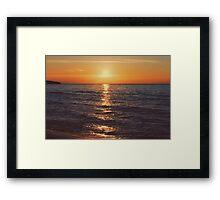 Sunset on Lake Michigan Framed Print