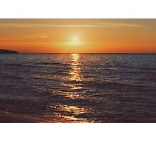 Sunset on Lake Michigan Photographic Print