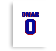 National baseball player Omar Quintanilla jersey 0 Canvas Print