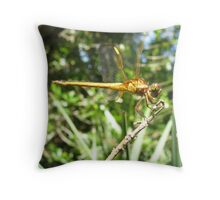 dragon profile Throw Pillow