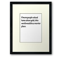 A Merrier Place Framed Print