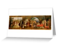 The Travelers Bookcase Greeting Card