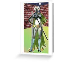 Digital Fantasy Figure Illustration: Cat's Eyes Greeting Card