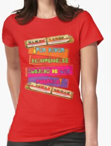 WDW spanish Monorail Womens Fitted T-Shirt