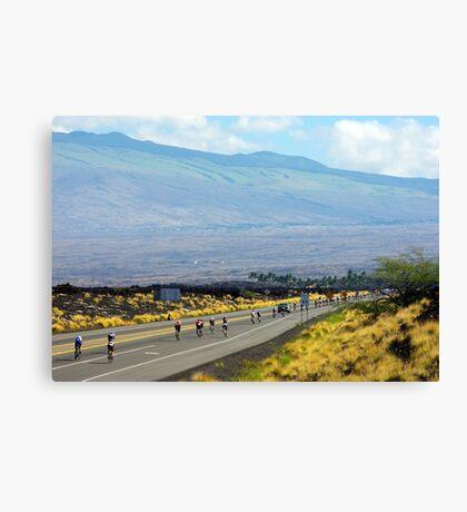 Long road ahead... Kona Ironman Canvas Print