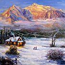 Winter Light Painted by Daniel Wall by Daniel Wall