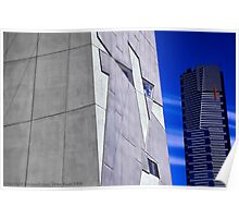 Federation Square & Red Stripe Building Poster