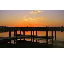 dock before dawn Photographic Print