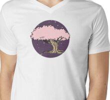 Pink Tree Mens V-Neck T-Shirt