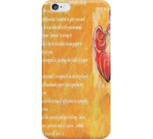 We Two Are One Prose Valentine Greeting iPhone Case/Skin