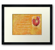 We Two Are One Prose Valentine Greeting Framed Print