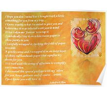 We Two Are One Prose Valentine Greeting Poster