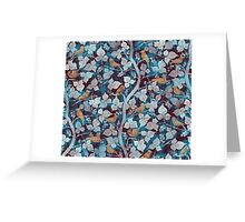 Birds in Blue Greeting Card