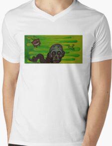 Bad tv Mens V-Neck T-Shirt