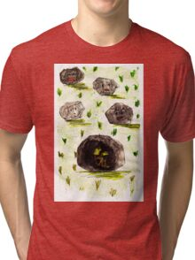 I stuck in the stone!!! Tri-blend T-Shirt