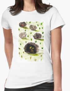 I stuck in the stone!!! Womens Fitted T-Shirt