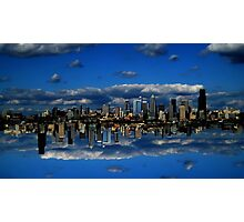Abstract Sky City of Seattle v1 Photographic Print