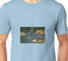 Rocky river bed Unisex T-Shirt