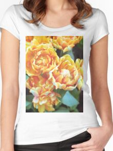 Blooming Tulips Women's Fitted Scoop T-Shirt