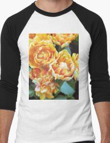 Blooming Tulips Men's Baseball ¾ T-Shirt