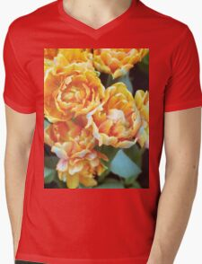 Blooming Tulips Mens V-Neck T-Shirt
