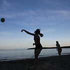 Beach Volleyball at Sunset by Tonia Smreczak
