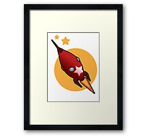 Retro Rocket Framed Print