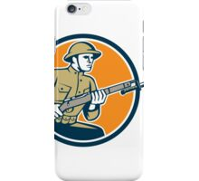 World War One Soldier American Retro Circle iPhone Case/Skin