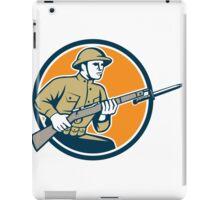 World War One Soldier American Retro Circle iPad Case/Skin