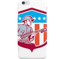World War One Soldier American Retro Shield iPhone Case/Skin