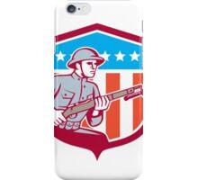 World War One Soldier American Retro Shield iPhone Case/Skin
