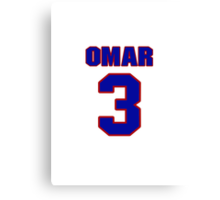 National baseball player Omar Quintanilla jersey 3 Canvas Print