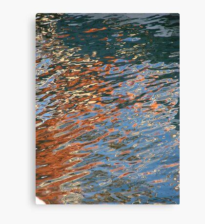 Crazy Boat Ripples Canvas Print