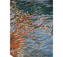 Crazy Boat Ripples Photographic Print