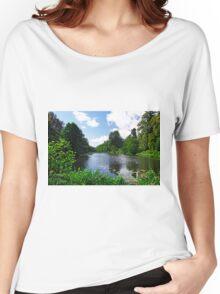 Along Mere Pond, Calke Park Women's Relaxed Fit T-Shirt