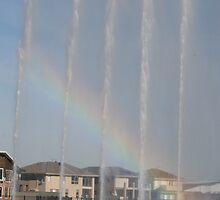 Rainbow through water by orianne