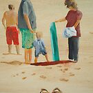 Day at the beach 2 by Susan Brown