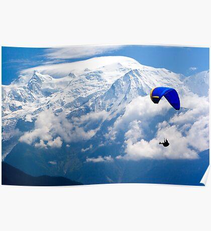 Paraglider, Mont Blanc Poster