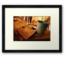 Text Decay Framed Print