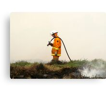 Lonely Fireman Metal Print