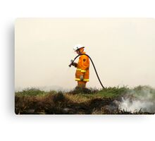 Lonely Fireman Canvas Print