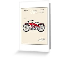 Motorcycle Patent - Colour Greeting Card