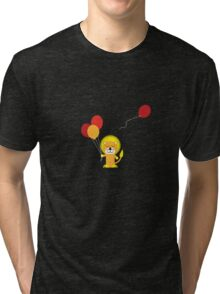 Lion with balloons Tri-blend T-Shirt