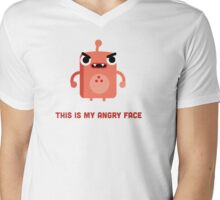 This is my Angry Face Mens V-Neck T-Shirt