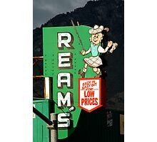 Reams Grocery Store Sign Photographic Print