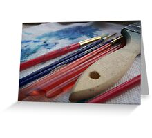 brushes Greeting Card